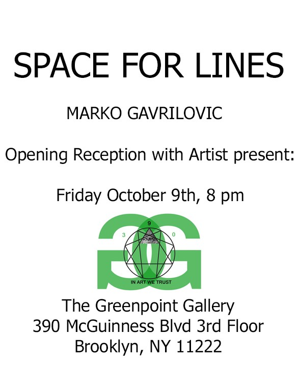 Space for Lines, solo show