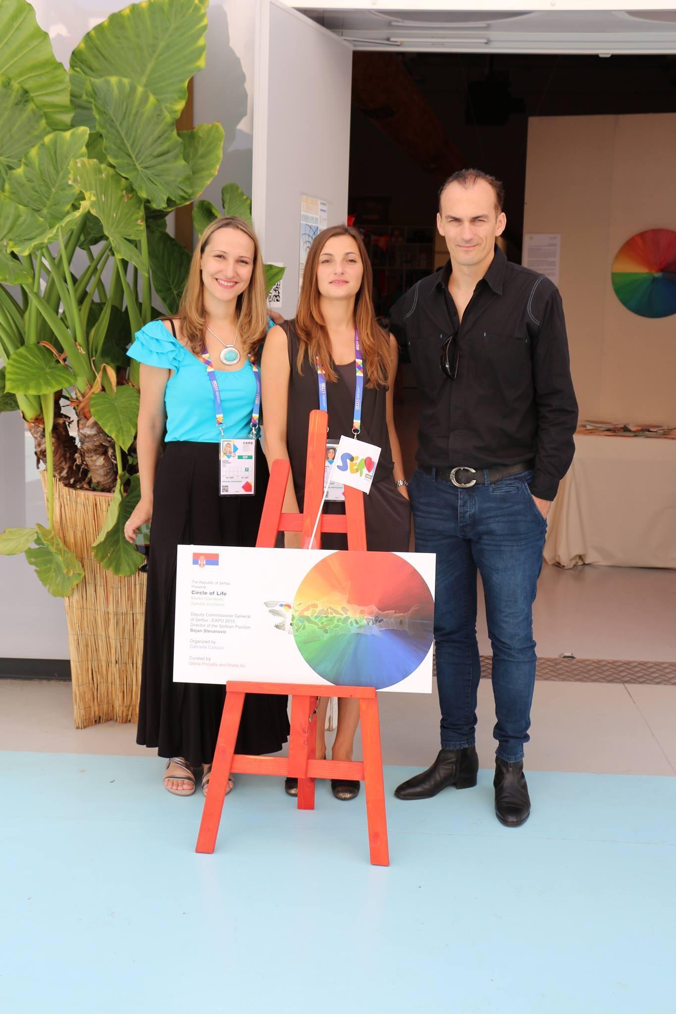 Sandra Vucicevic, Aneta Ilic, Marko Gavrilovic Circle of Life, Milan EXPO 2015
