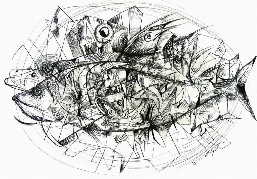 tuna drawing by marko gavrilovic
