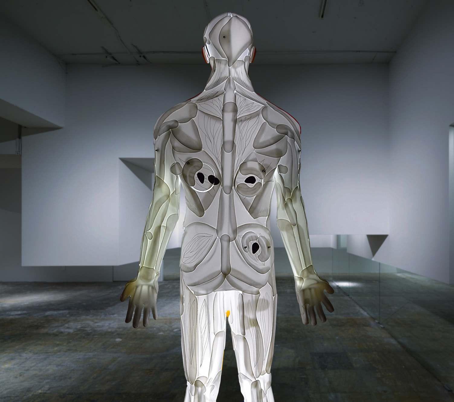 Enlightened man by Sculptor of light, interior