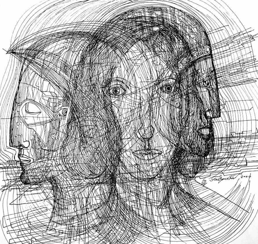 Byzantine, in drawing by artist Marko Gavrilovic