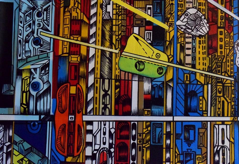 acrylic on canvas by marko gavrilovic, detail 1