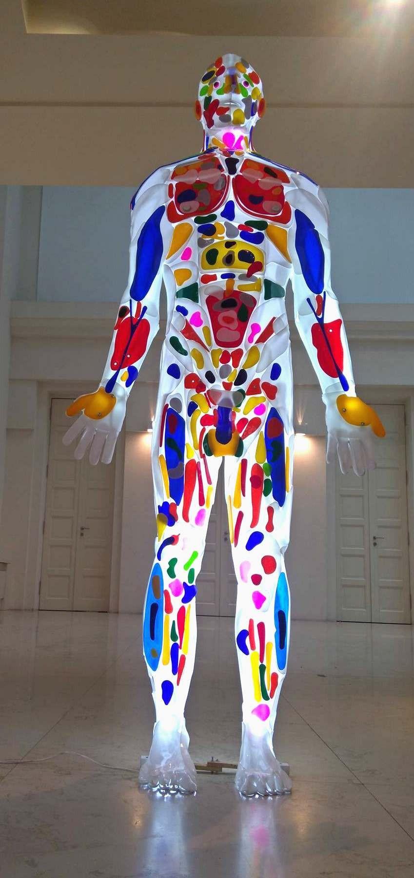 Enlightened man is a light sculpture made from Plexiglas