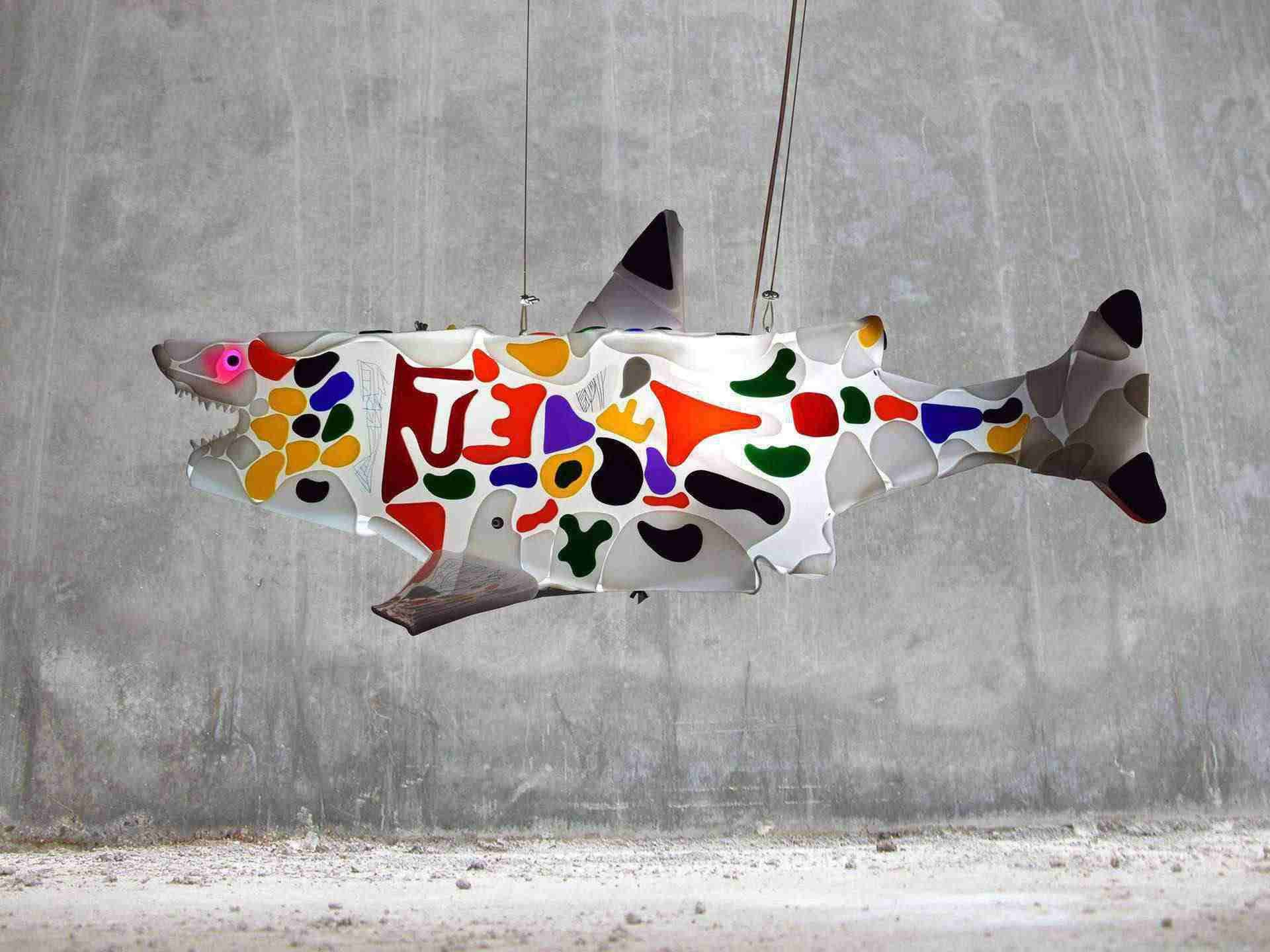 Guided by instinct is a sculpture from shark sculptures series.
