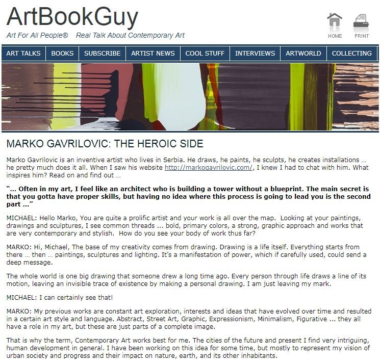 Interview for ArtBook Guy