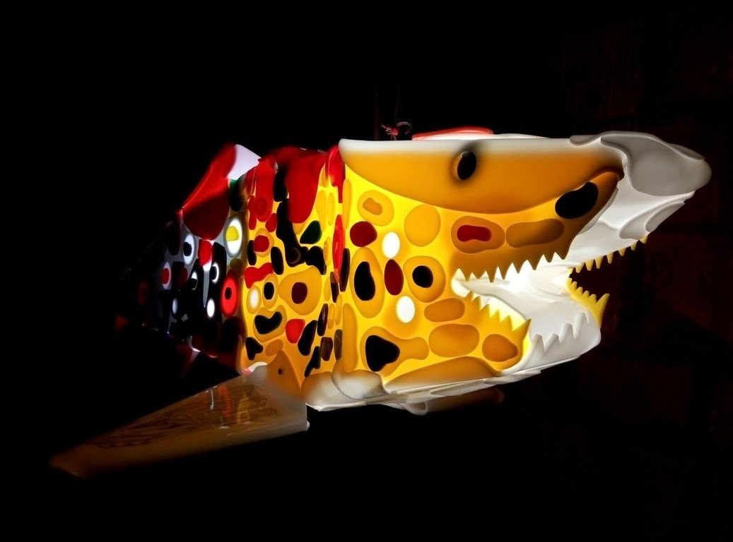 Renegade is a light sculpture from shark sculptures series