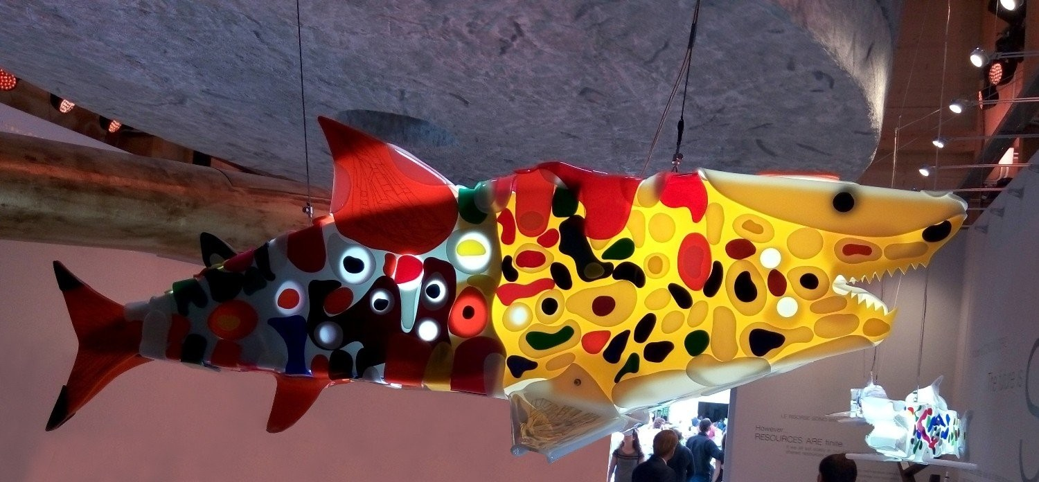 Renegade, shark sculptures series, exhibition view at Milan Expo.