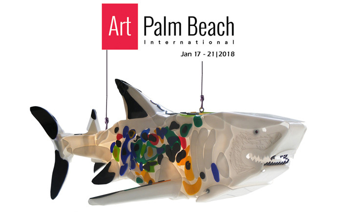 Art Palm Beach 2018, shark sculptures by Marko Gavrilovic