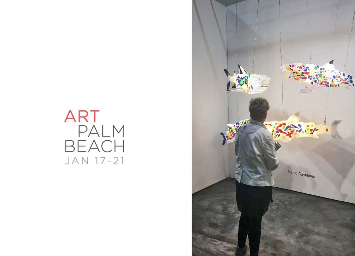 Art Palm Beach 2018, shark sculptures