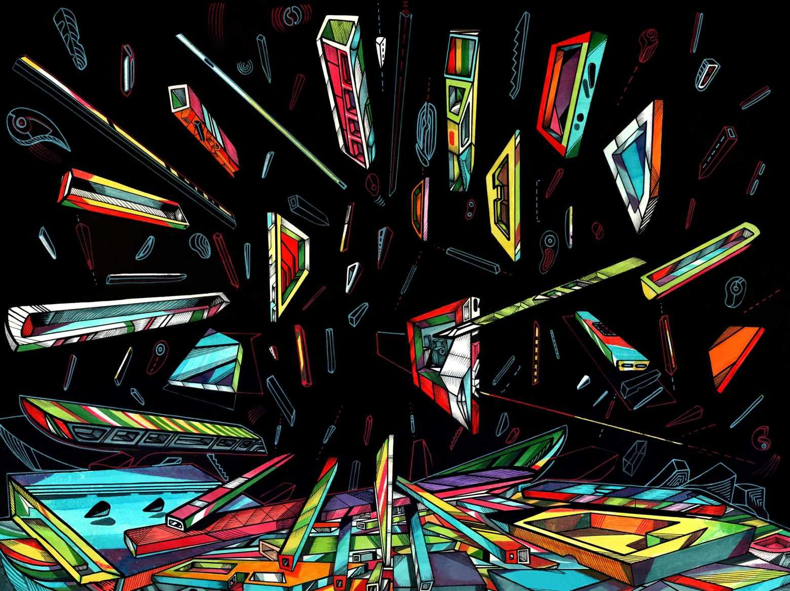 Expanse 1, 100 x 70 cm, acrylic on paper, 2018, artist Marko Gavrilovic