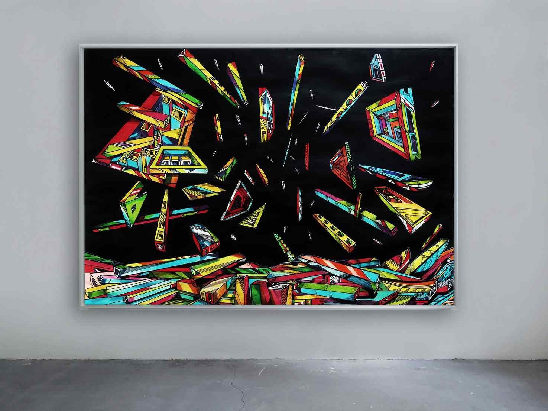Expanse 2, 100 x 70 cm, acrylic on paper, artist Marko Gavrilovic