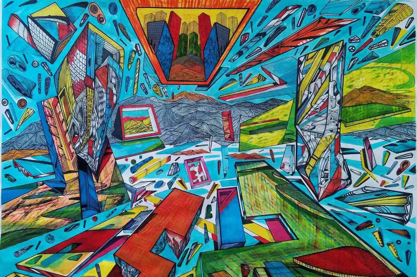 Flying city 7 by Marko Gavrilovic